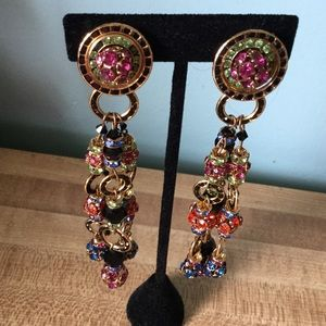 Stunning Clip on evening earrings